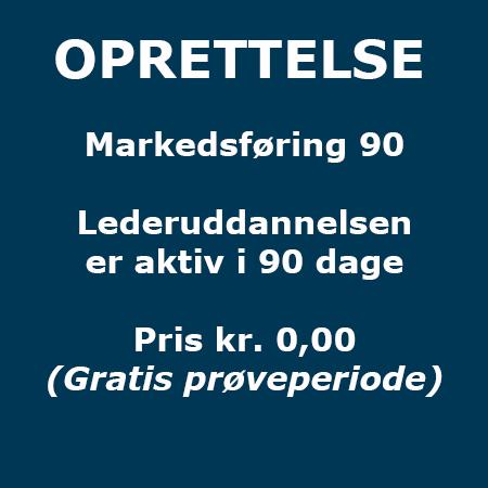 Lederuddannelse - Oprettelse - Markedsføring 90 - Produkt - Lederuddannelserne.dk