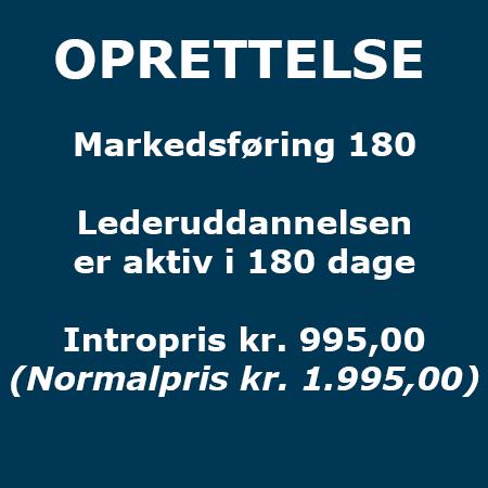 Lederuddannelse - Oprettelse - Markedsføring 180 - Produkt - Lederuddannelserne.dk