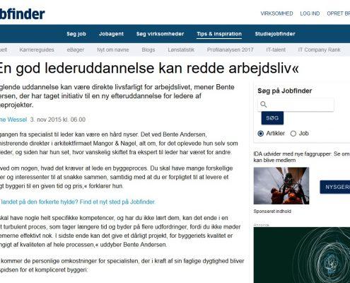 En god lederuddannelse kan redde arbejdsliv - Jobfinder - Artikel - Lederuddannelserne.dk
