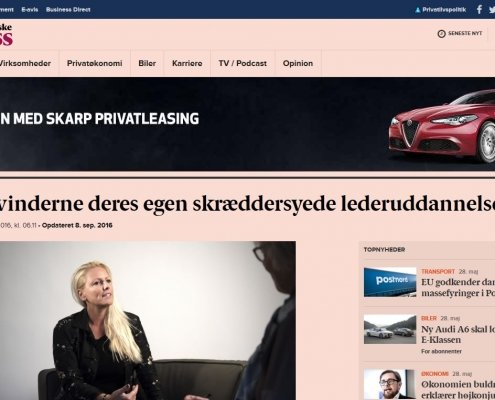Nu får kvinderne deres egen skræddersyede lederuddannelse - Berlingske Business - Artikel - Lederuddannelserne.dk