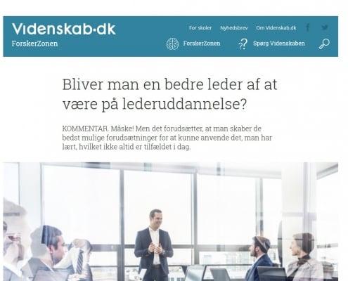 Bliver man en bedre leder af at være på lederuddannelse - Artikel - Videnskab.dk - Lederuddannelserne.dk