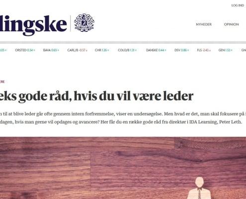 Lederuddannelse - Seks gode råd, hvis du vil være leder - Berlingske - Artikel - Lederuddannelserne.dk