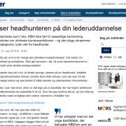 Sådan ser headhunteren på din lederuddannelse - Artikel - Jobfinder - Lederuddannelserne.dk
