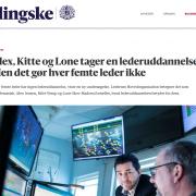 Lederuddannelse - Alex, Kitte og Lone tager en lederuddannelse - Men det goer hver femte leder ikke - Artikel - Jyllands-Posten - Lederuddannelserne-dk