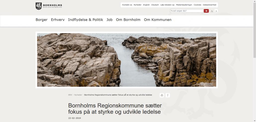 Lederuddannelse - Bornholms Regionskommune sætter fokus på at styrke og udvikle ledelse