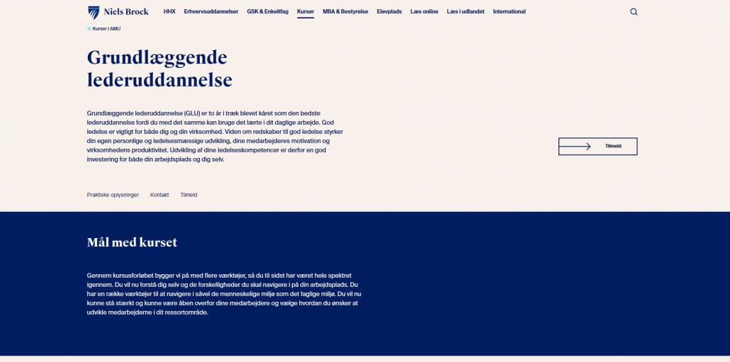 Udbyder - Niels Brock - Kursus om grundlæggende lederuddannelse - Lederuddannelser og lederkurser