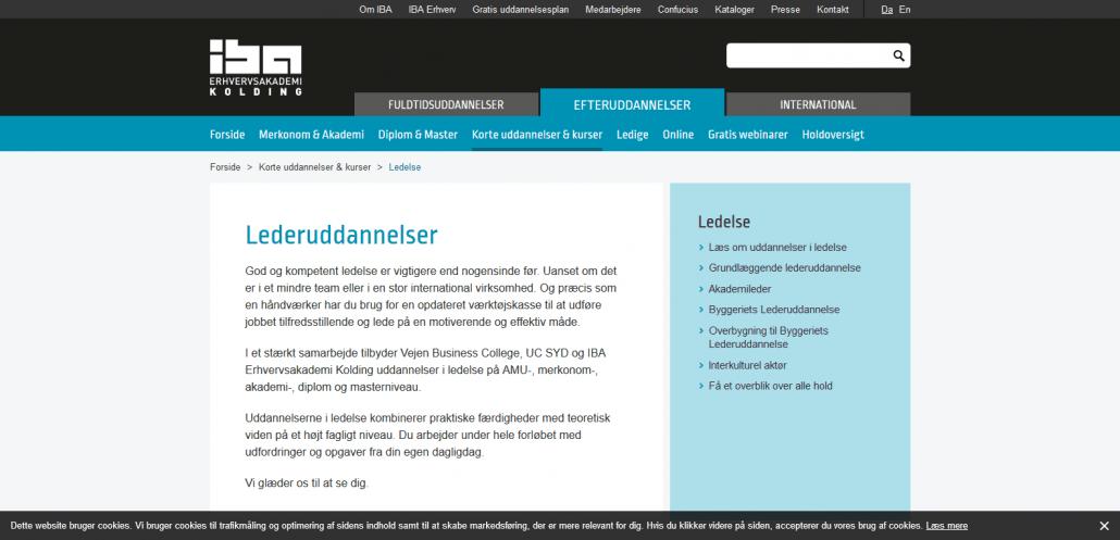 Udbydere - IBA Kolding - Lederuddannelse Tag en uddannelse i ledelse hos IBA Kolding