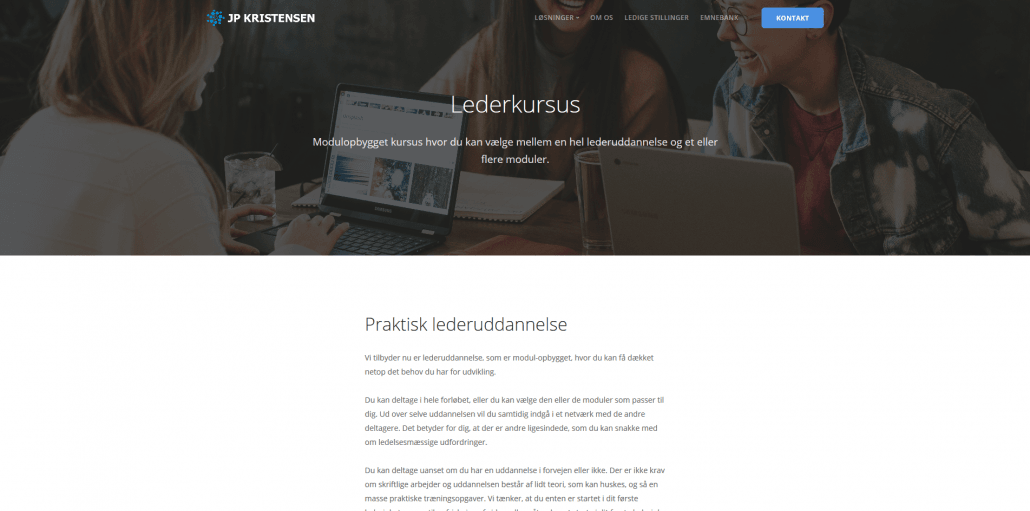 Udbydere - JP Kristensen - Praktisk lederkursus - Modulopbygget lederuddannelse