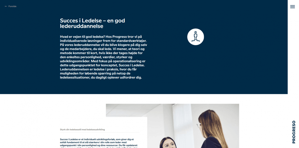 Udbydere - Progreso - Udvikl din ledelsesstil - Lederuddannelser og lederkurser
