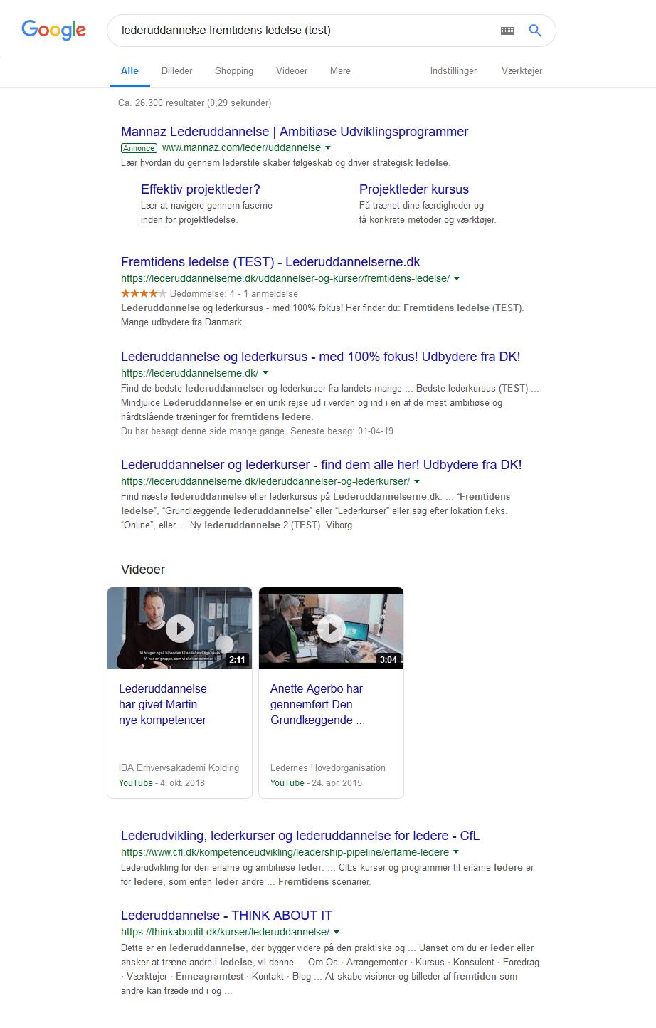 Lederuddannelse - Anmeldelse - Google-søgning