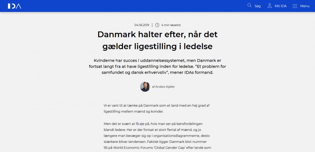 Lederuddannelse - Danmark halter efter, når det gælder ligestilling i ledelse